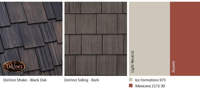 1. Multi-Width Shake – Black Oak – Bark Brown Shake Siding Exterior Color Schemes