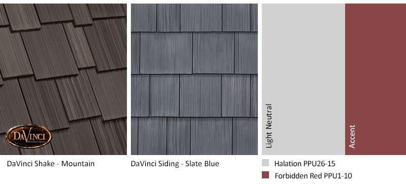 2. Multi-Width Shake – Mountain – Slate Blue siding exterior color schemes