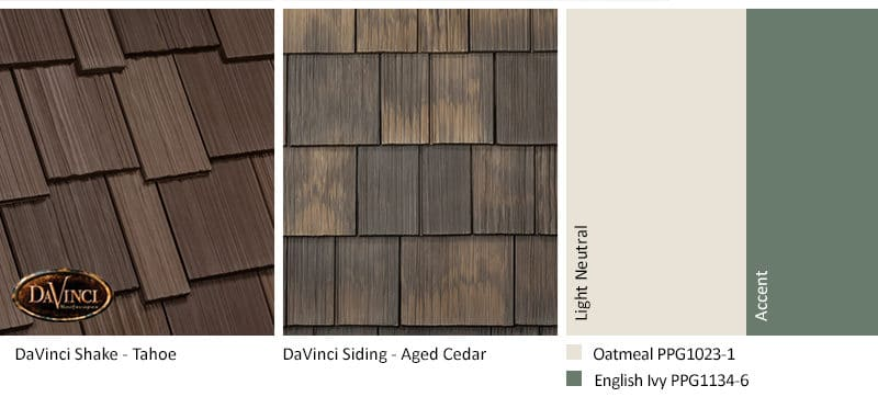 2. Multi-Width Shake – Tahoe – Aged Cedar Shake Siding Exterior Color Schemes