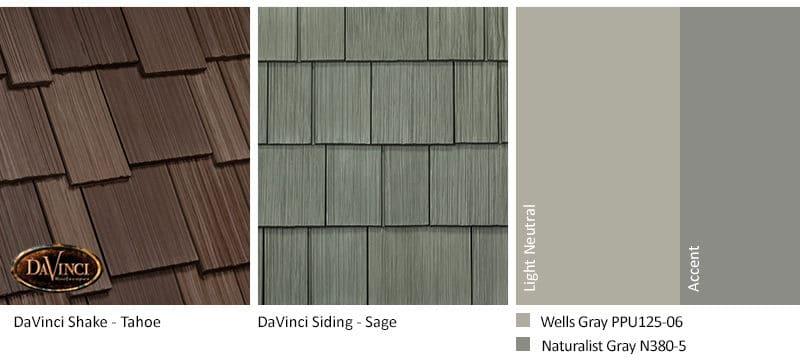 2. Multi-Width Shake – Tahoe – Sage exterior color schemes shake siding
