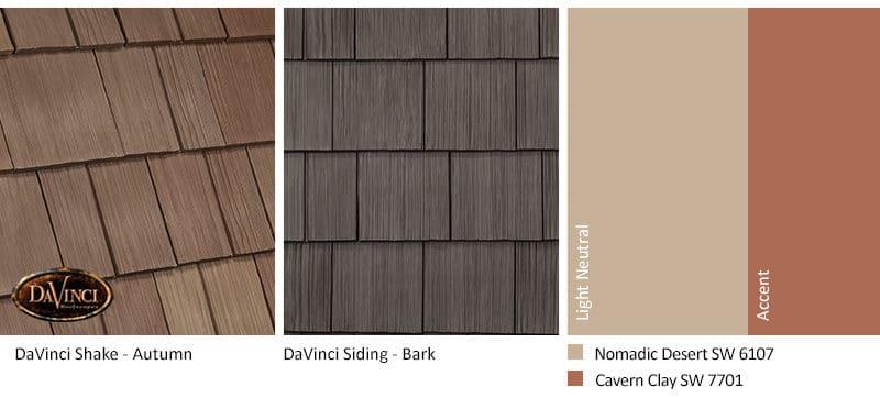 2. Select Shake – Autumn – Bark Brown Shake Siding Exterior Color Schemes