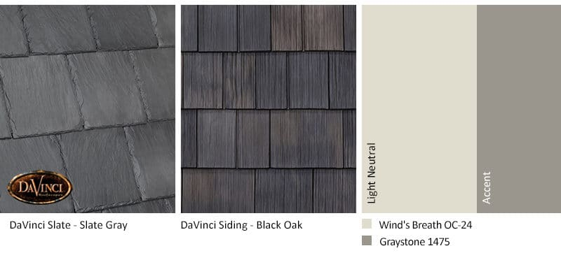 3. Bellaforte Slate – Slate Gray – Black Oak Shake Siding Exterior Color Schemes