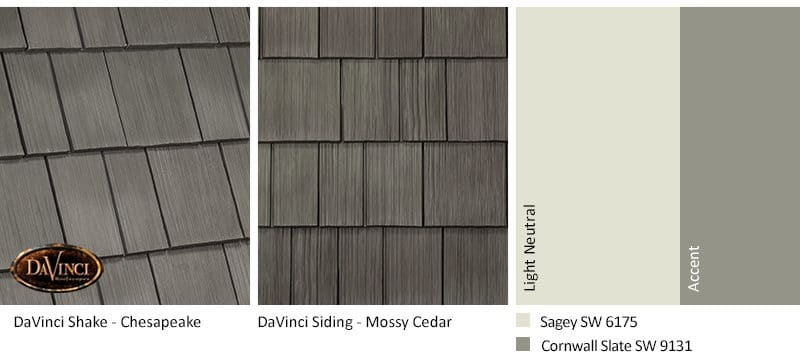 3. Select Shake – Chesapeake – Mossy Cedar Shake Siding Exterior Color Schemes