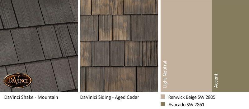 3. Select Shake – Mountain – Aged Cedar Shake Siding Exterior Color Schemes