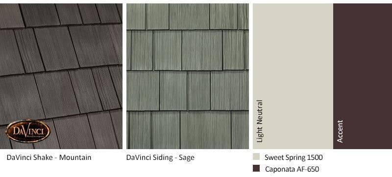 3. Select Shake – Mountain – Sage exterior color schemes shake siding