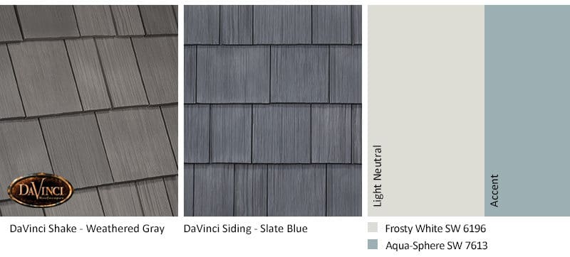 3. Select Shake – Weathered Gray – Slate Blue siding exterior color schemes