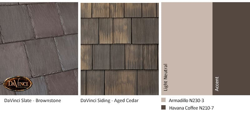4. Bellaforte Slate – Brownstone – Aged Cedar Shake Siding Exterior Color Schemes