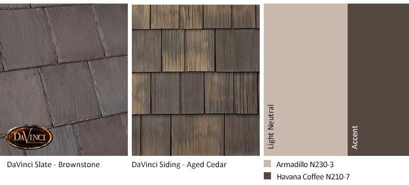 4. Bellaforte Slate – Brownstone – Aged Cedar Shake Siding Exterior Color Schemes