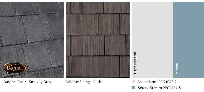 4. Bellaforte Slate – Smokey Gray – Bark Brown Shake Siding Exterior Color Schemes