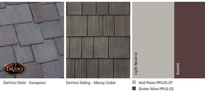 4. Multi-Width Slate – European – Mossy Cedar Shake Siding Exterior Color Schemes
