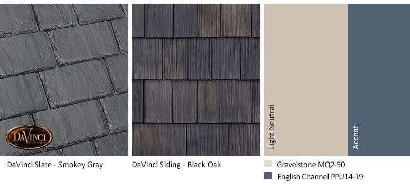4. Multi-Width Slate – Smokey Gray – Black Oak Shake Siding Exterior Color Schemes