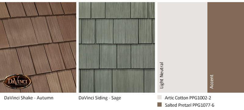 4. Select Shake – Autumn – Sage exterior color schemes shake siding