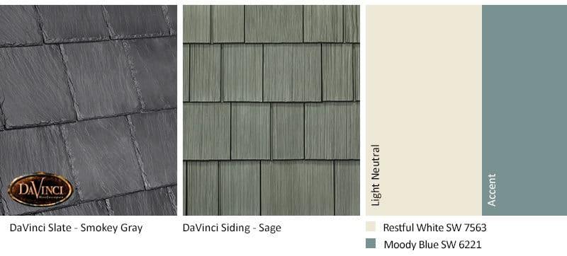 5. Bellaforte Slate – Smokey Gray – Sage exterior color schemes shake siding