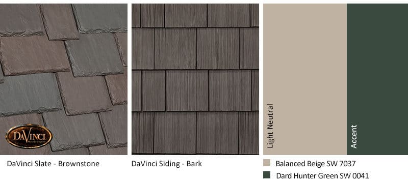 5. Multi-Width Slate – Brownstone – Bark Brown Shake Siding Exterior Color Schemes
