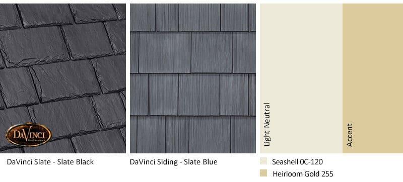 5. Multi-Width Slate – Slate Black – Slate Blue siding exterior color schemes