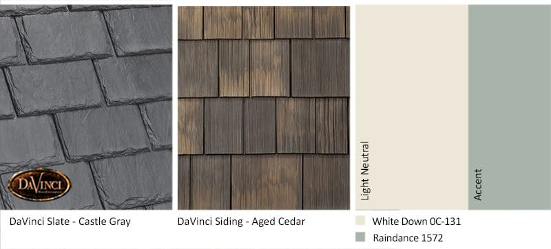 5. Single-Width Slate – Castle Gray – Aged Cedar Shake Siding Exterior Color Schemes