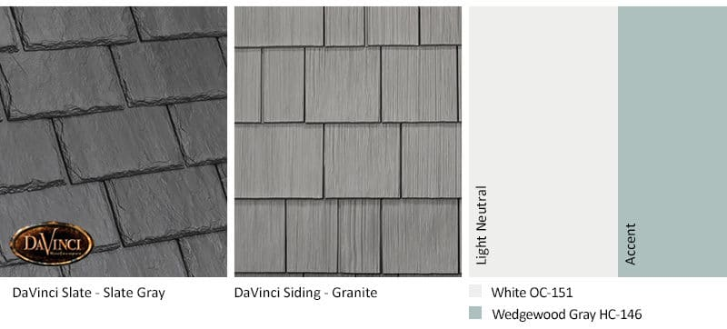 5. Single-Width Slate – Slate Gray – Granite exterior color schemes shake siding