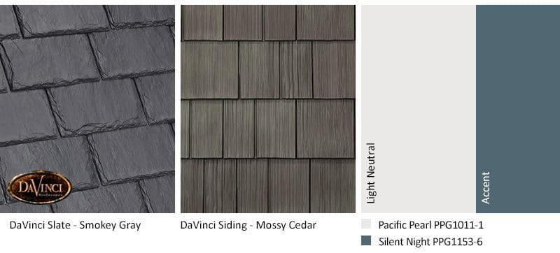 5. Single-Width Slate – Smokey Gray – Mossy Cedar Shake Siding Exterior Color Schemes