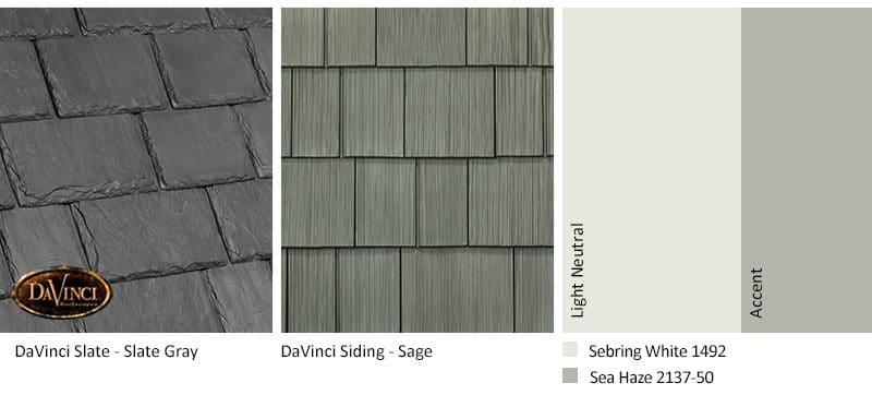 6. Multi-Width Slate – Slate Gray – Sage exterior color schemes shake siding