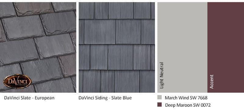 6. Single-Width Slate – European – Slate Blue siding exterior color schemes