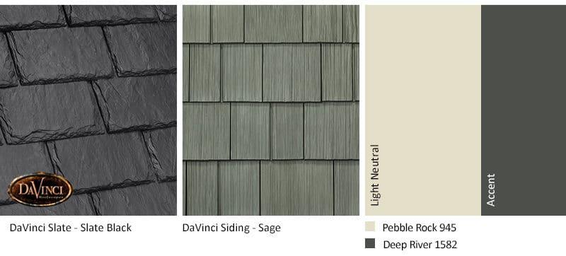 7. Single-Width Slate – Slate Black – Sage exterior color schemes shake siding