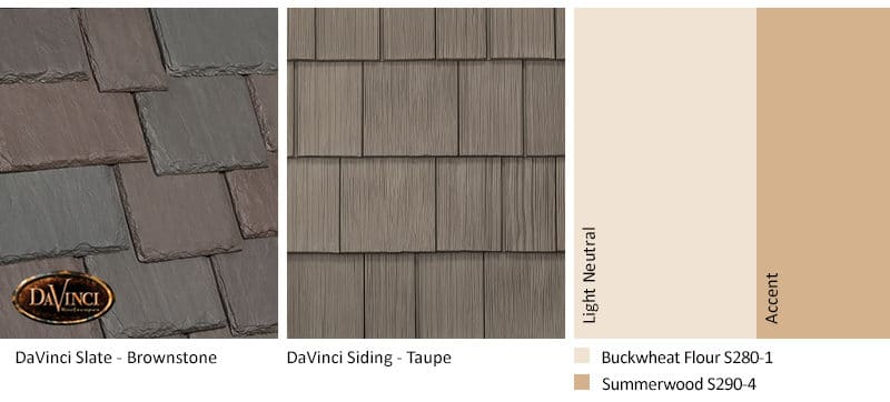 5. Multi-Width Slate – Brownstone – Taupe - shake siding exterior color schemes