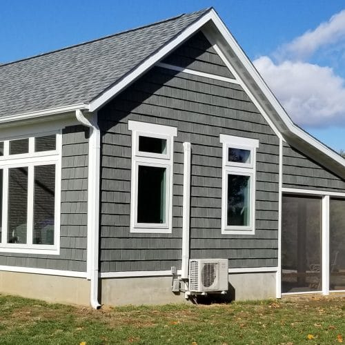 Want a closer view of DaVinci's Sage Green Hand-Split Shake siding? Well, here you go!
