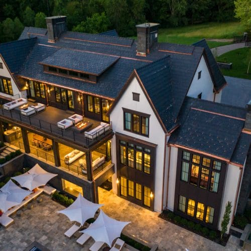 What an incredible home... and what an incredible synthetic slate roof from DaVinci