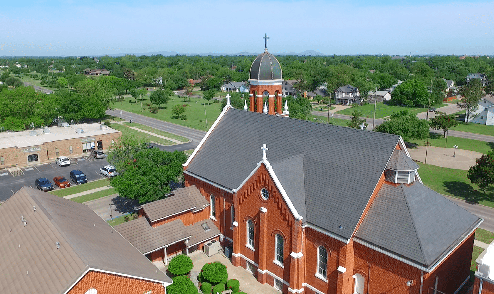 At last, this church's roof is complete, thanks to DaVinci Single-Width Slate