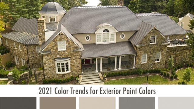 2021 Color Trends for Exterior Paint Colors