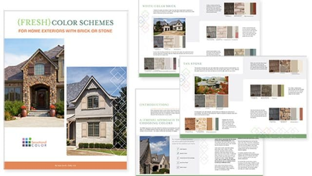 Fresh Color Schemes for Homes Exteriors With Brick or Stone
