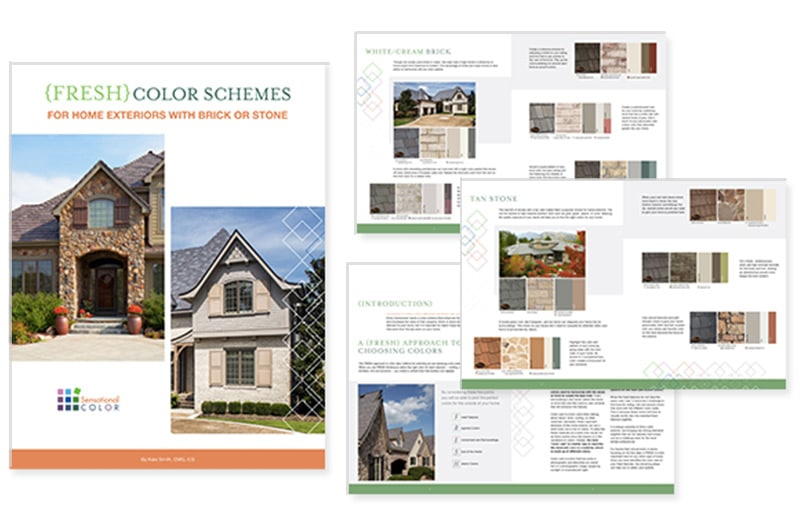 Fresh Home Exterior Colors to go with Brick and Stone