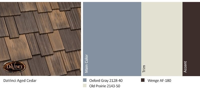 Aged Cedar Shake Exterior Color Scheme