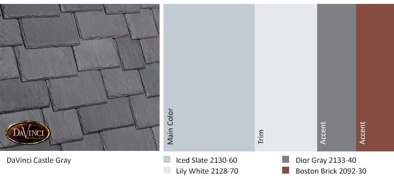 Castle Gray exterior color palette