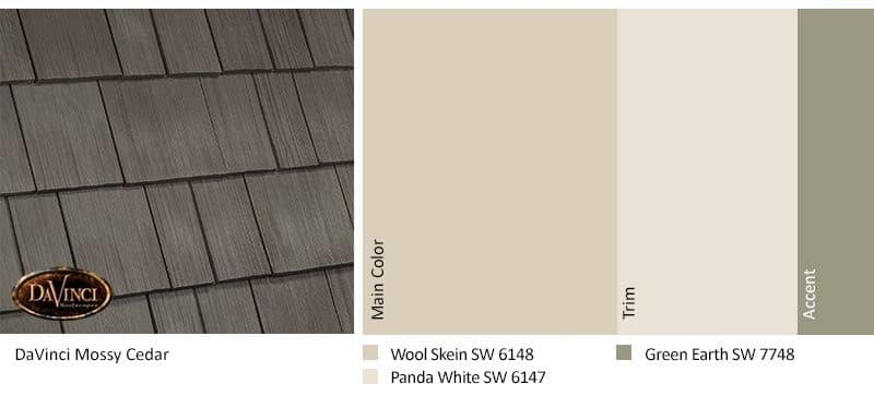 DaVinci Select Shake Mossy Cedar with Sherwin-Williams Color Palette