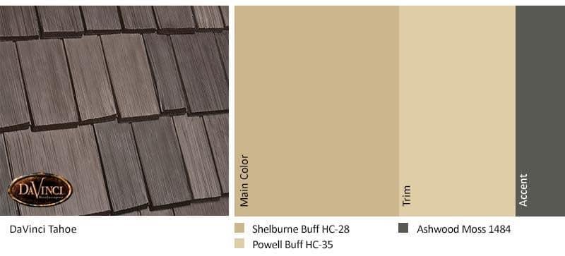 DaVinci Shake Tahoe with Benjamin Moore Exterior Color Scheme
