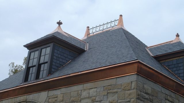 Copper Accents with Castle Gray