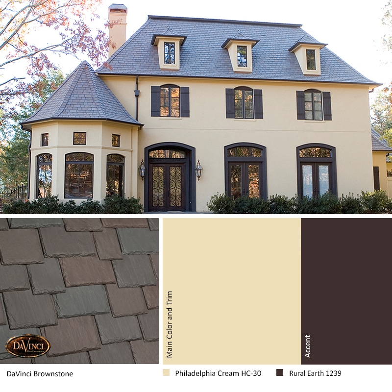 Best Exterior Color Scheme for Brownstone Slate
