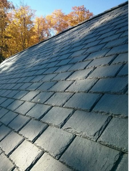 up close of slate roof
